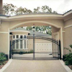 Black iron automatic gate