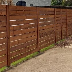 Residential Redwood Fence