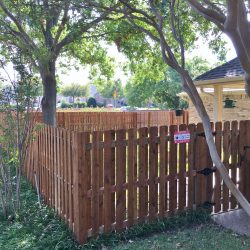 Residential Wooden Fence with Gate