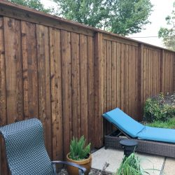 Stained Residential Fence