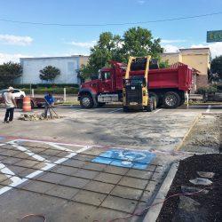 Commercial Parking Lot Concrete Repair in DeSoto, TX