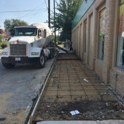 Rebar Layout in Commercial Sidewalk Repair
