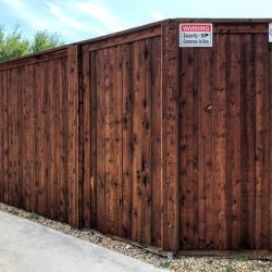 Stained Board on Board Residential Fence