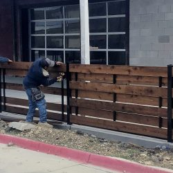 Commercial Specialty Horizontal Wood Fence