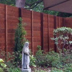 Custom modern horizontal cedar fence