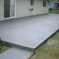 Backyard Concrete Patio Area