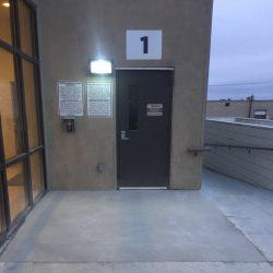 Commercial Concrete Repair in Front of Entrance Door
