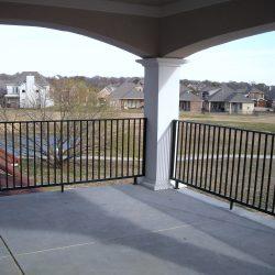 Flat-top balcony iron rail