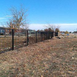 Flat-top iron fence