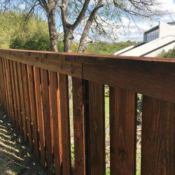 Shadowbox fence slots up close