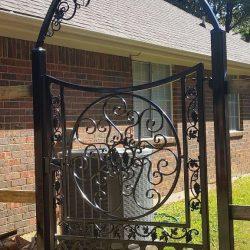 Residential Ornamental Black Iron Grapevine Gate