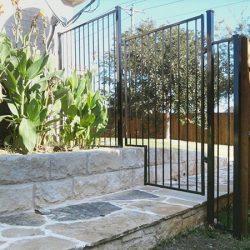 Custom iron fence stair step