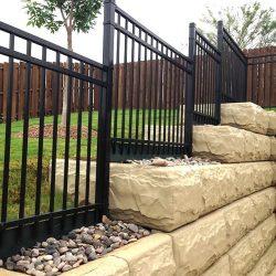 Ameristar iron fence and cedar fence