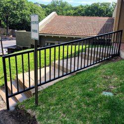 Iron handrail for sidewalk