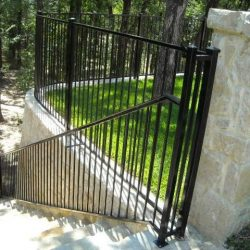 Iron handrail and fence