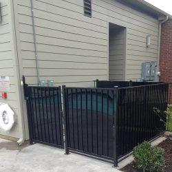 Iron pool equipment enclosure