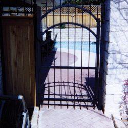 Pool security iron gate