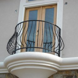 Custom design iron balcony